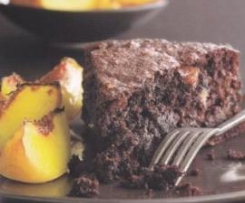 Flourless Peach/Chocolate Cake