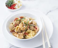 Chicken and prawn noodles