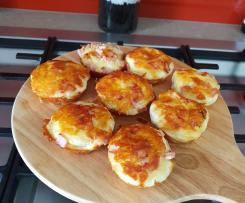 Mini Cheese and bacon rolls- pie maker
