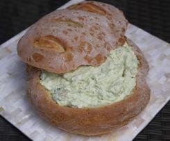 Smoked Salmon and Avocado Cob Loaf
