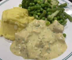 Mustard and chive chicken