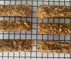 Carrot, nut and banana baked bars