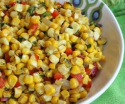 Sweet Peppers Onions and  Corn