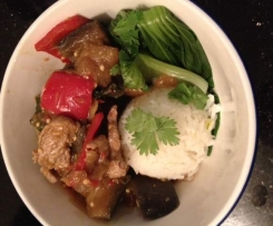 Thai pork with eggplant