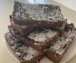 Healthy chocolate coconut slice