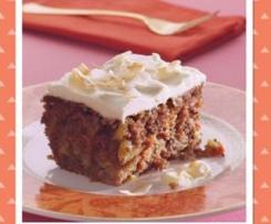 Carrot and walnut spice cake