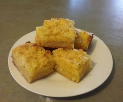 Lemon,Coconut, Almond Slice GF