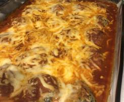 Quinoa, Chickpea & Spinach Balls in Tomato Sauce