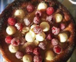 Raspberry White Chocolate Baked Cheesecake