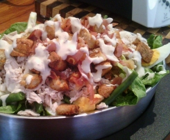 Steamed Chicken Caesar Salad Yummy Style