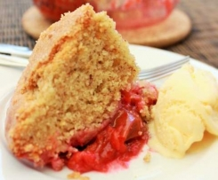 Plum Sponge Pudding