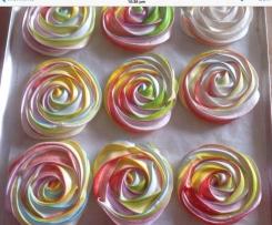 Rainbow Meringue Roses