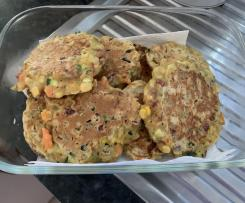 Corn meat fritters