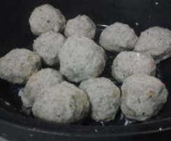 Chicken Balls using Chilli butter