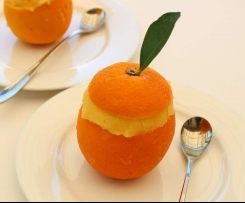 Frozen Orange Sorbet
