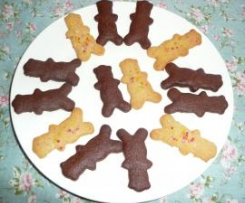 Chocolate Tiny Teddy Biscuits