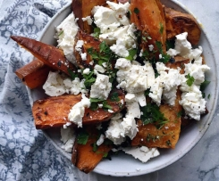 Garlic Sweet Potato Wedges