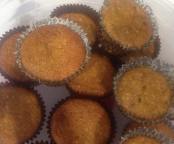 Gluten free Healthy banana & carrot muffins