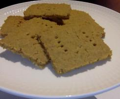 Chickpea and oat crackers