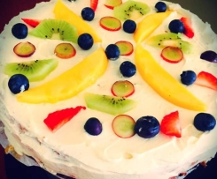 Fruit cake & Eggnog Cheese cake