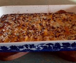 Polenta gnocchi in creamy pumpkin sauce