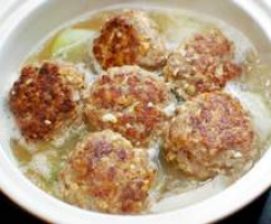 Chicken Rissoles in Bone Broth