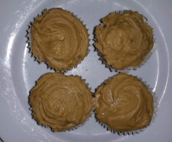 Chestnut Cupcakes with Caramel Filling and Chestnut buttercream icing