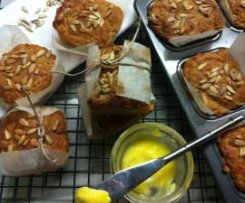 Sage, Onion & Sunflower-seeded Apple Cider Bread, Gluten Free