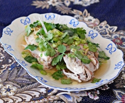 Steamed Whole Snapper with Ginger & Spring Onion