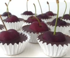 Raw Choc Cups   Almond or Cherry
