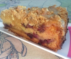Lemon Curd and Blueberry Streusel Cake