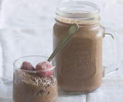 Raw Chocolate Berry Chia Pudding