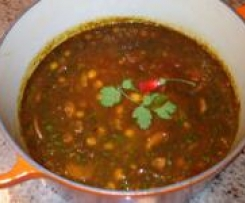 Chick Peas with Chilli and Coriander