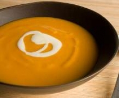 Moroccan Roasted Sweet Potato Soup