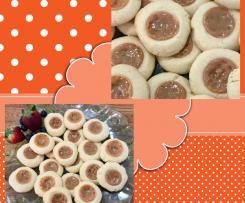 Dulce de Leche/Caramel thumb-print cookies