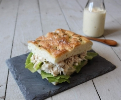 Maggie Beer's Chicken and verjuice mayonnaise focaccia