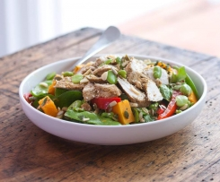 Chicken, broad bean and snow pea salad - Tim Robards