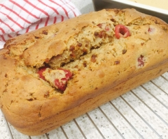 Banana, Raspberry & Date Bread