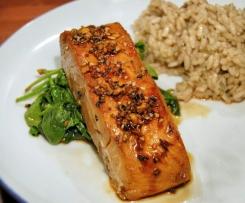 Honey soy salmon Varoma style