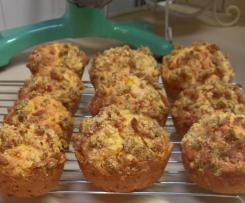 Savoury Streusel Muffins