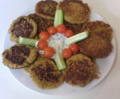 Gluten-free, Egg-free, Dairy-free Vegetable Fritters