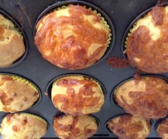 Hidden Veg Pumpkin and Cheese Muffins