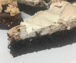 Chocolate Meringue Brownie Cake