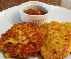 Corn Fritters (adapted from Donna Hay Modern Classics 1)