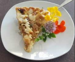 Scat's Floozie (Creamy Chicken, Caramelized Leek & Goats Cheese Tart)