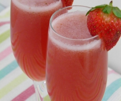 Strawberry champagne cocktail