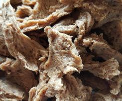 Pulled pork style seitan (vegan meat)
