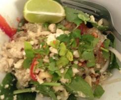 Warm Thai Chicken and Noodle Salad - Paleo, Gluten Free