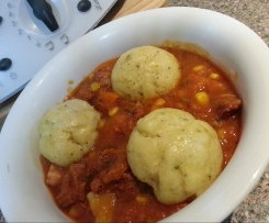 Lamb Stew with Steamed Dumplings