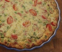 IMPOSSIBLE QUICHE- NO PASTRY